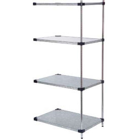 48x24x74 Galvanized Steel Solid Shelving Add-On