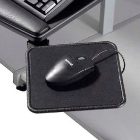 """Mouse Tray, 8""""W x 8""""D, 360° Rotation, Black, 1/Pack"""