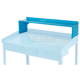 "Riser Shelf for 48""W Shop Desk - Blue - Blue"