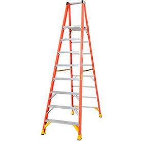 Werner 8' Fiberglass Platform Step Ladder 300 lb. Cap - P6208