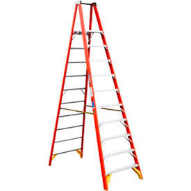 Werner 10' Fiberglass Platform Step Ladder 300 lb. Cap - P6210