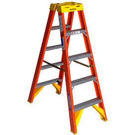 Werner 5' Dual Access Fiberglass Step Ladder 300 lb. Cap - T6205