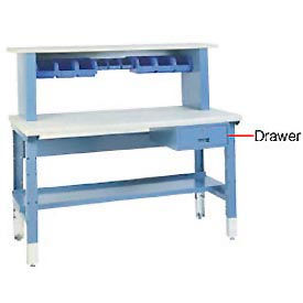 """7"""" H  Locking Work Bench Drawer - Blue"""