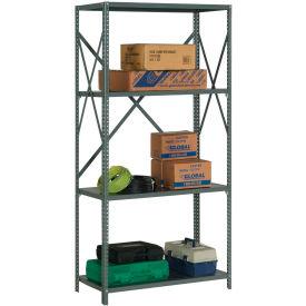 "Steel Shelving 20 Ga 48""Wx24""Dx73""H Open Clip Style 4 Shelf"