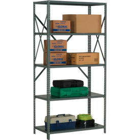"Steel Shelving 20 Ga 36""Wx12""Dx73""H Open Clip Style 5 Shelf"