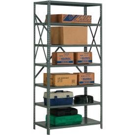 """Steel Shelving 20 Gauge 36""""Wx30""""Dx73""""H Open Clip Style 7 Shelf"""