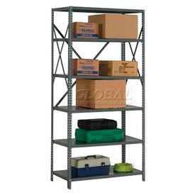 "Steel Shelving 20 Ga 36""Wx24""Dx73""H Open Clip Style 6 Shelf"