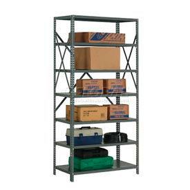 "Steel Shelving 20 Ga 48""Wx24""Dx73""H Open Clip Style 7 Shelf"