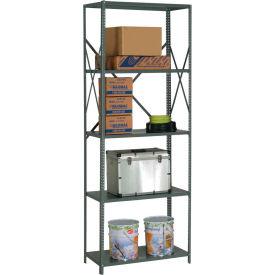 "Steel Shelving 20 Ga 36""Wx18""Dx97""H Open Clip Style 5 Shelf"