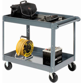 Edsal SC6000 2 Shelf Deep Tray Steel Stock Cart 36x24 800 Lb. Capacity