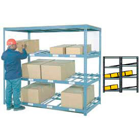 "Carton Flow Shelving Double Depth 4 LEVEL 96""W x 84""D x 84""H"