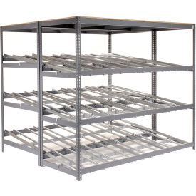 "Carton Flow Shelving Double Depth 3 LEVEL 96""W x 96""D x 84""H"