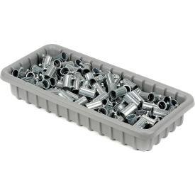 "Dandux Dividable Nesting Plastic Box 50P1811040 -  17-3/4""L x 10-7/8""W x 3""H, Gray - Pkg Qty 5"