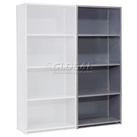 "Steel Shelving 20 Ga 36""Wx24""Dx73""H Closed Clip Style 5 Shelf Add-On"