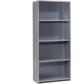 "Steel Shelving 20 Ga 48""Wx24""Dx73""H Closed Clip Style 5 Shelf Starter"