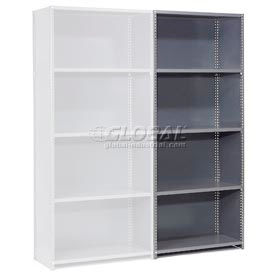 "Steel Shelving 20 Ga 48""Wx12""D X85""H Closed Clip Style 5 Shelf Add-On"