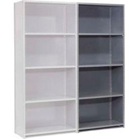 "Steel Shelving 20 Ga 48""Wx30""Dx85""H Closed Clip Style 5 Shelf Add-On"