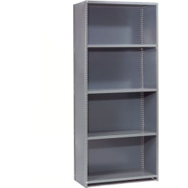 "Steel Shelving 20 Ga 48""Wx30""Dx85""H Closed Clip Style 5 Shelf Starter"