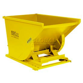 Wright 15077 1-1/2 Cu Yd Yellow Heavy Duty Self Dumping Forklift Hopper