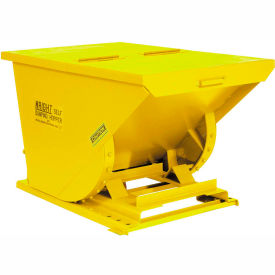Wright 40099 4 Cu Yd Yellow HD Self Dumping Forklift Hopper with Heavy Gauge Base