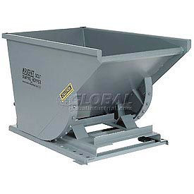 Wright 50099 5 Cu Yd Gray HD Self Dumping Forklift Hopper with Heavy Gauge Base