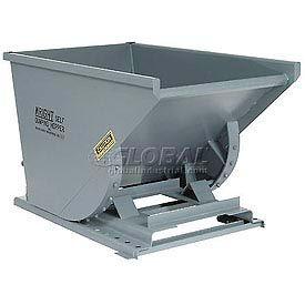 Wright 50099 5 Cu Yd Gray HD Self Dumping Forklift Hopper with Heavy Gauge Base