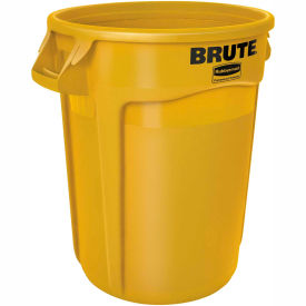 Rubbermaid Brute® 2620 Trash Container 20 Gallon - Yellow