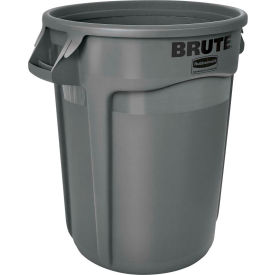 Rubbermaid Brute® 2643-60 Trash Container w/Venting Channels, 44 Gallon - Gray