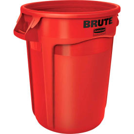Rubbermaid Brute® 2643-60 Trash Container w/Venting Channels, 44 Gallon - Red