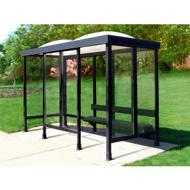 Smoking Shelter Dome Roof Four Sided With Left And Right Front Opening 12'X 5'