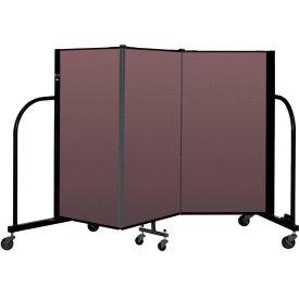 """Screenflex Portable Room Divider 3 Panel, 4'H x 5'9""""L, Fabric Color: Mauve"""