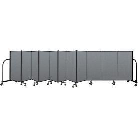 "Screenflex Portable Room Divider 11 Panel, 4'H x 20'5""L, Fabric Color: Gray"