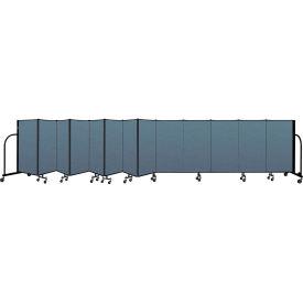 "Screenflex Portable Room Divider 13 Panel, 4'H x 24'1""L, Fabric Color: Blue"