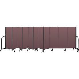 """Screenflex Portable Room Divider 11 Panel, 5'H x 20'5""""L, Fabric Color: Mauve"""
