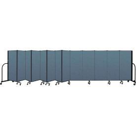"Screenflex Portable Room Divider 13 Panel, 5'H x 24'1""L, Fabric Color: Blue"