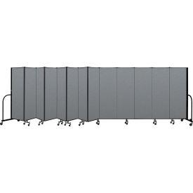 "Screenflex Portable Room Divider 13 Panel, 6'H x 24'1""L, Fabric Color: Gray"