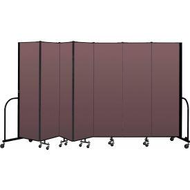 """Screenflex Portable Room Divider 7 Panel, 6'8""""H x 13'1""""L, Fabric Color: Mauve"""