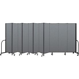"Screenflex Portable Room Divider 11 Panel, 6'8""H x 20'5""L, Fabric Color: Gray"
