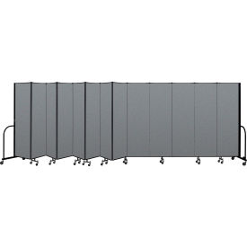 "Screenflex Portable Room Divider 13 Panel, 6'8""H x 24'1""L, Fabric Color: Gray"