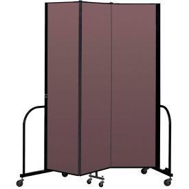 """Screenflex Portable Room Divider 3 Panel, 7'4""""H x 5'9""""L, Fabric Color: Mauve"""