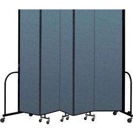 Screenflex Portable Room Divider 5 Panel 7 4 H X 9