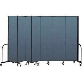 "Screenflex Portable Room Divider 7 Panel, 7'4""H x 13'1""L, Fabric Color: Blue"