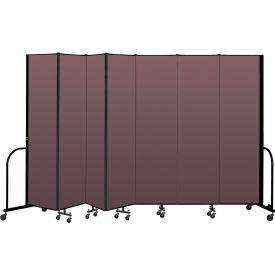 """Screenflex Portable Room Divider 7 Panel, 7'4""""H x 13'1""""L, Fabric Color: Mauve"""