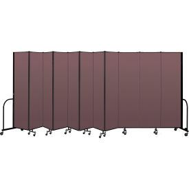 "Screenflex Portable Room Divider 11 Panel, 7'4""H x 20'5""L, Fabric Color: Mauve"