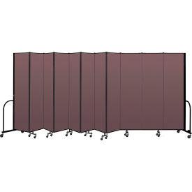 """Screenflex Portable Room Divider 11 Panel, 7'4""""H x 20'5""""L, Fabric Color: Mauve"""