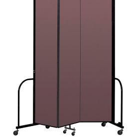 """Screenflex Portable Room Divider 3 Panel, 8'H x 5'9""""L, Fabric Color: Mauve"""