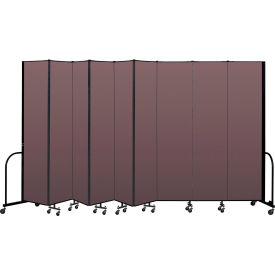 "Screenflex Portable Room Divider 9 Panel, 8'H x 16'9""L, Fabric Color: Mauve"