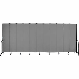 "Screenflex Portable Room Divider 11 Panel, 8'H x 20'5""L, Fabric Color: Gray"