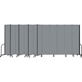 "Screenflex Portable Room Divider 13 Panel, 8'H x 24'1""L, Fabric Color: Gray"