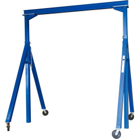 Vestil Steel Gantry Crane AHS-2-10-12 Adjustable Height 2000 Lb. Capacity